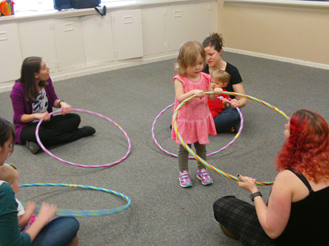 Child with hoola hoop